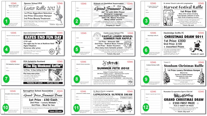 Raffle Draw Ticket Samples – Sample Ticket Template