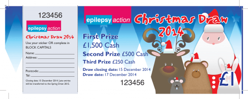 Raffle Ticket Example - Epilepsy Action
