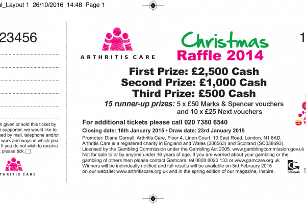 Raffle Ticket Example - Christmas