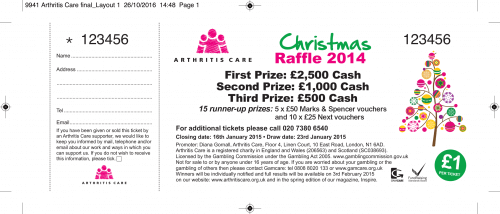 Raffle Ticket Example - Christmas